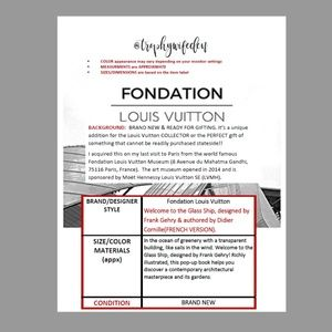 Louis Vuitton Other - Louis Vuitton Foundation Pop Up Book